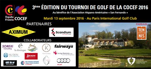3ème Edition de Tournoi de Golf COCEF 2016